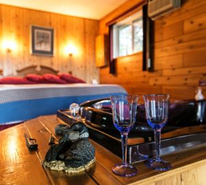One of Barrier Bay's romantic cabins.